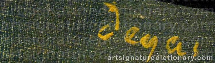 Signature by Edgar DEGAS