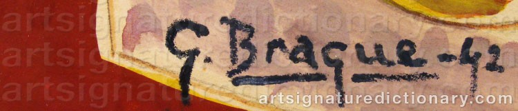 Forged signature of Georges BRAQUE