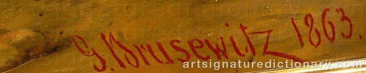 Signature by Gustaf BRUSEWITZ