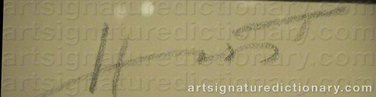 Signature by Horst P. HORST