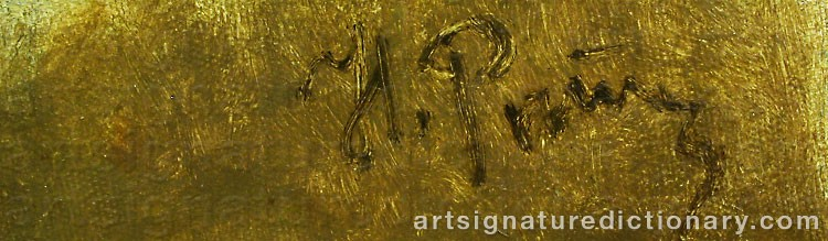 Forged signature of Ilya Efimovich REPIN