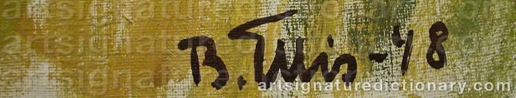 Signature by Bengt ELLIS