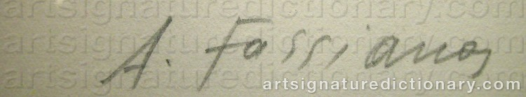 Signature by Alexandre Alecos FASSIANOS