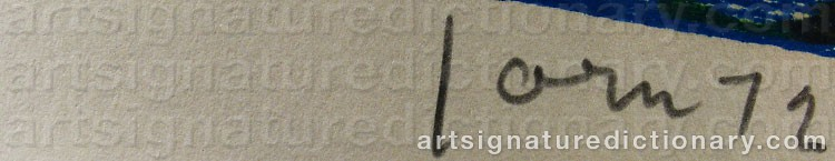 Signature by Asger JORN