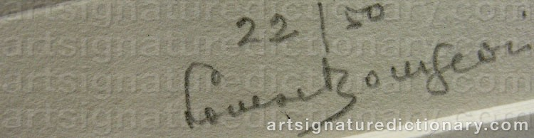 Signature by Louise BOURGEOIS