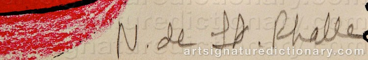 Signature by Niki De SAINT-PHALLE