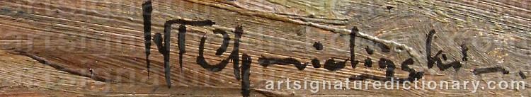 Signature by Wladyslaw CHMIELINSKI