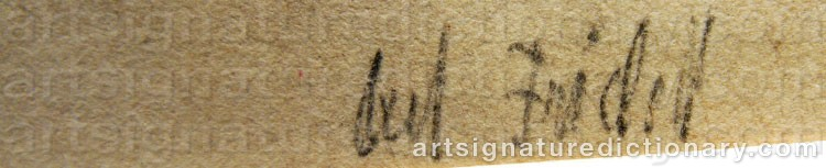 Signature by Axel FRIDELL