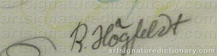 Forged signature of Robert HÖGFELDT