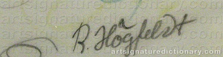 Forged signature of Robert HÖGFELDT