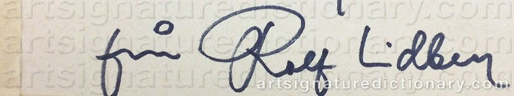 Signature by Rolf LIDBERG