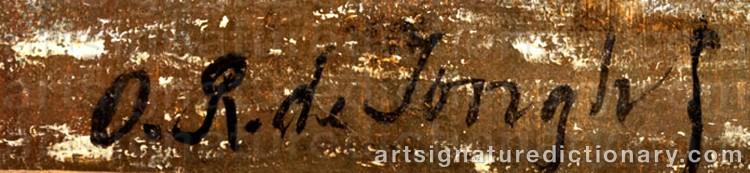 Signature by Oene Romkes De JONGH