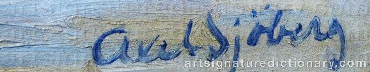 Signature by Axel SJÖBERG