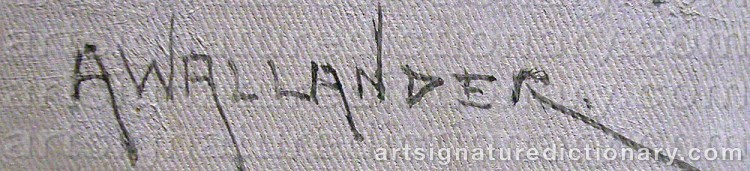 Signature by Alf WALLANDER