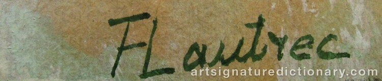 Forged signature of Henri De TOULOUSE-LAUTREC