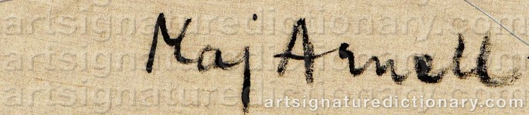 Signature by Maj ARNELL