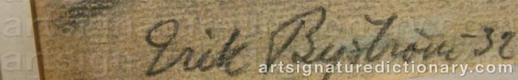 Signature by Erik BYSTRÖM