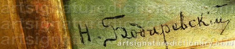 Signature by Nikolai Kornilievich BODAREVSKY