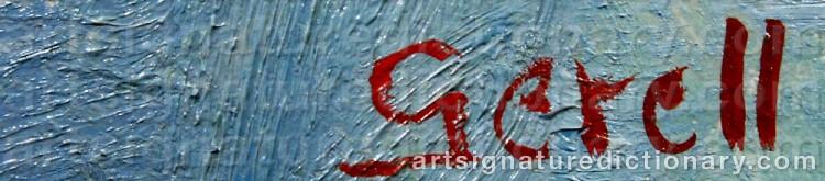 Signature by Greta GERELL