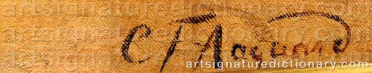 Signature by Carl Frederik AAGAARD
