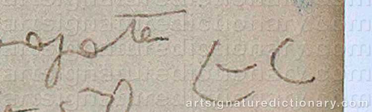 Signature by Charles Edouard Jeanneret Le CORBUSIER