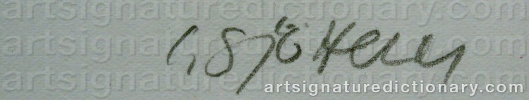 Signature by Charles SJÖHOLM