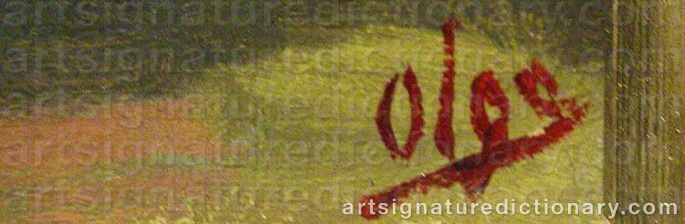Signature by Olga Grand Duchess ALEXANDROVNA