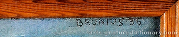 Signature by Göran BRUNIUS