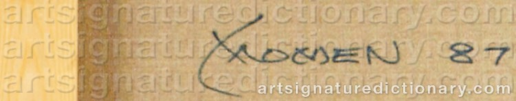 Signature by Karl MOMEN