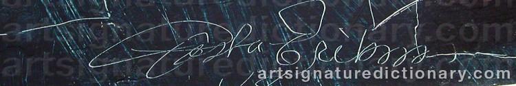 Signature by Gösta ERIKSON