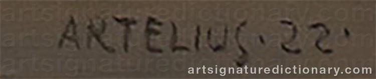 Signature by Helge ARTELIUS