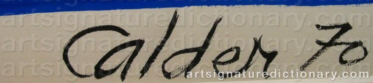 Signature by Alexander CALDER
