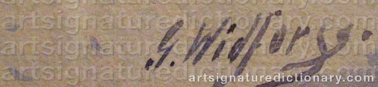 Signature by Gunnar WIDFORSS