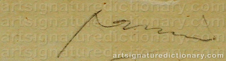 Signature by Jules PASCIN