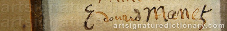 Forged signature of Edouard MANET