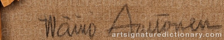 Signature by Wäinö AALTONEN