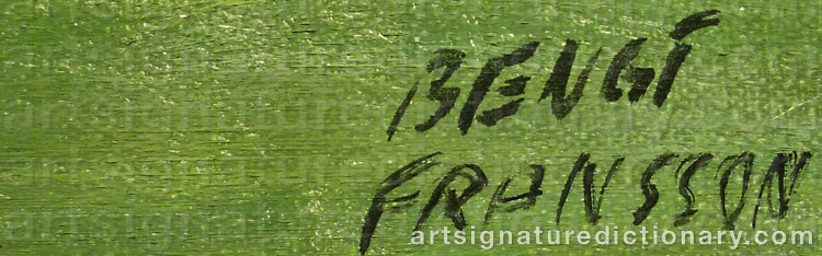Signature by Bengt FRANSSON