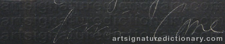 Signature by Louis CANE