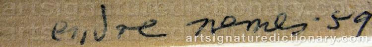 Signature by Endre NEMES