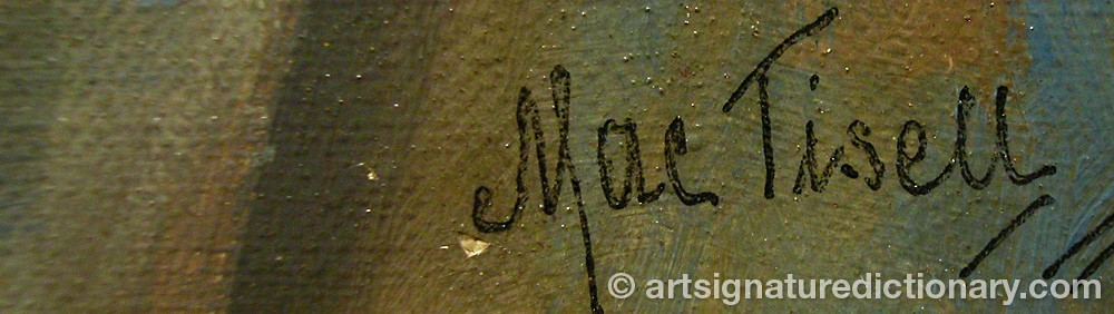 Signature by Martin August Christian 'Mac' TISELL