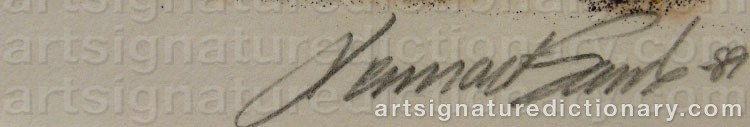 Signature by Lennart SAND