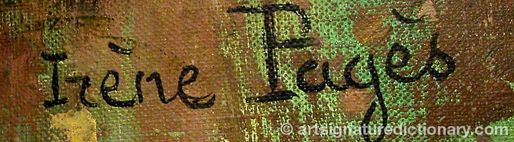 Signature by Irène PAGÈS