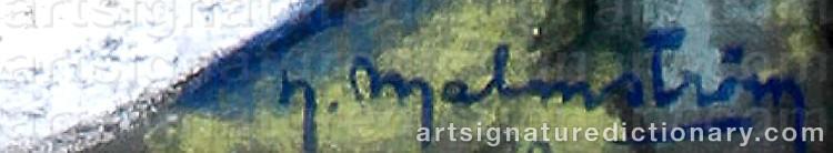 Signature by Henning MALMSTRÖM