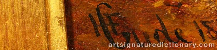 Signature by Hans Fredrik GUDE