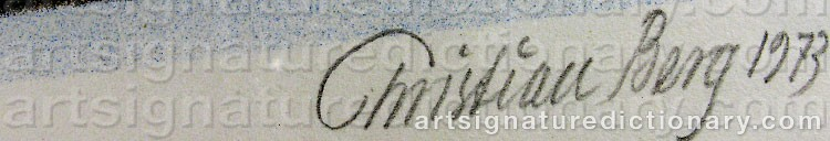 Signature by Christian BERG