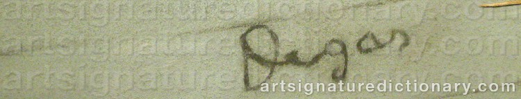 Forged signature of Edgar DEGAS
