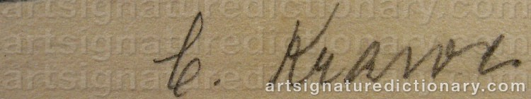 Signature by Carl KRAWE