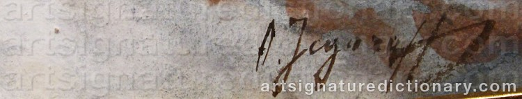 Signature by Andrei Afanasievich YEGOROV