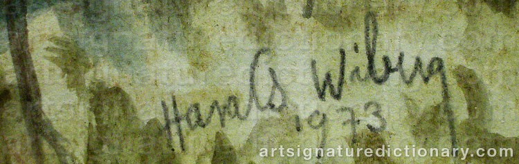 Forged signature of Harald WIBERG