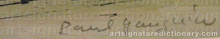 Signature by Paul René GAUGUIN
